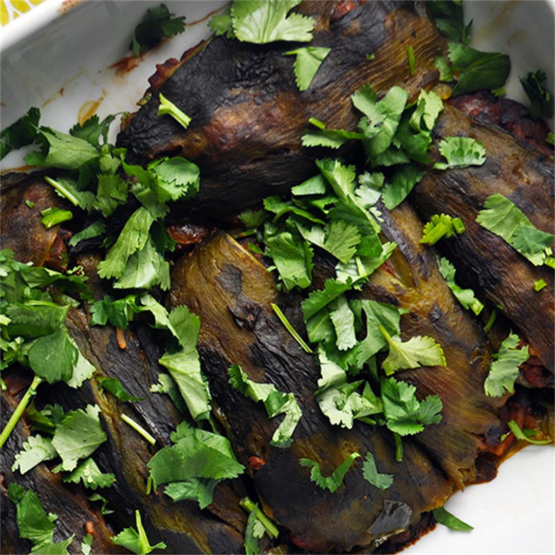 Stuffed Poblano Peppers with Black beans and Rice