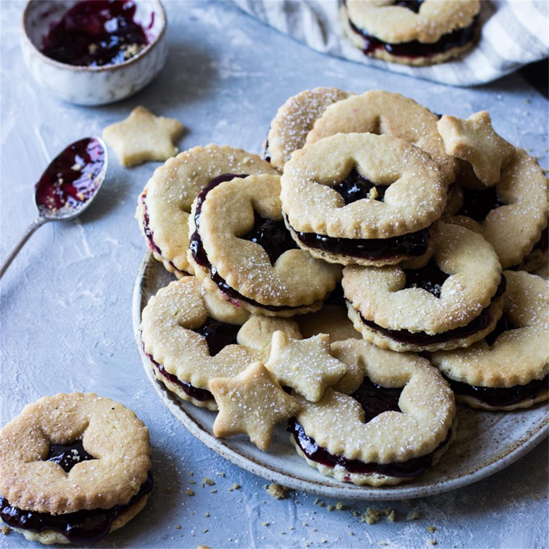 shortbread blackcurrant biscuits