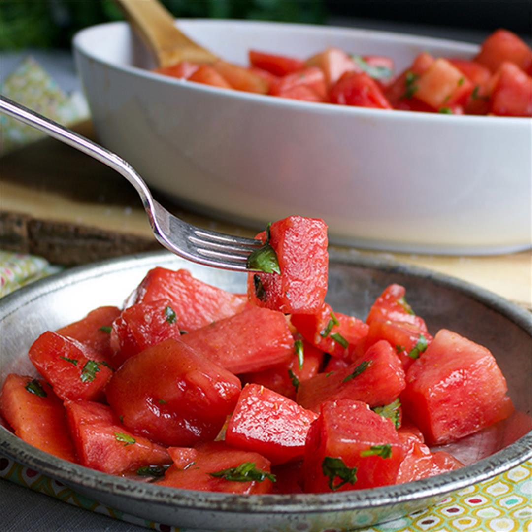 Watermelon Salad with Chili & Lime