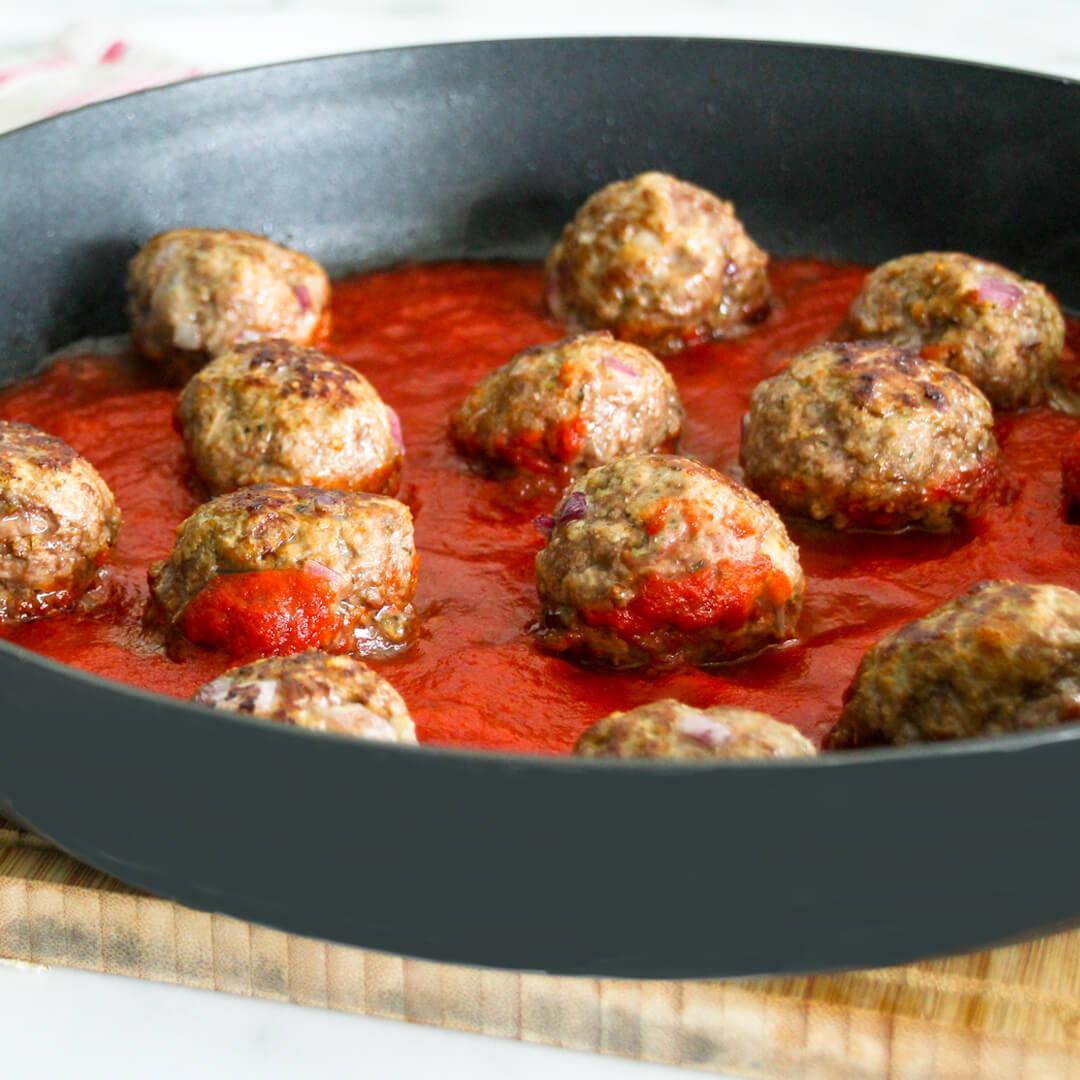 30-Minute Low-Carb Beef Meatballs Recipe