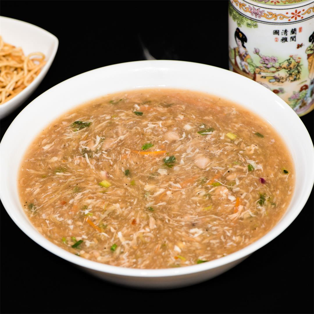 Chicken Manchow soup, Manchow soup with Chicken and vegetables