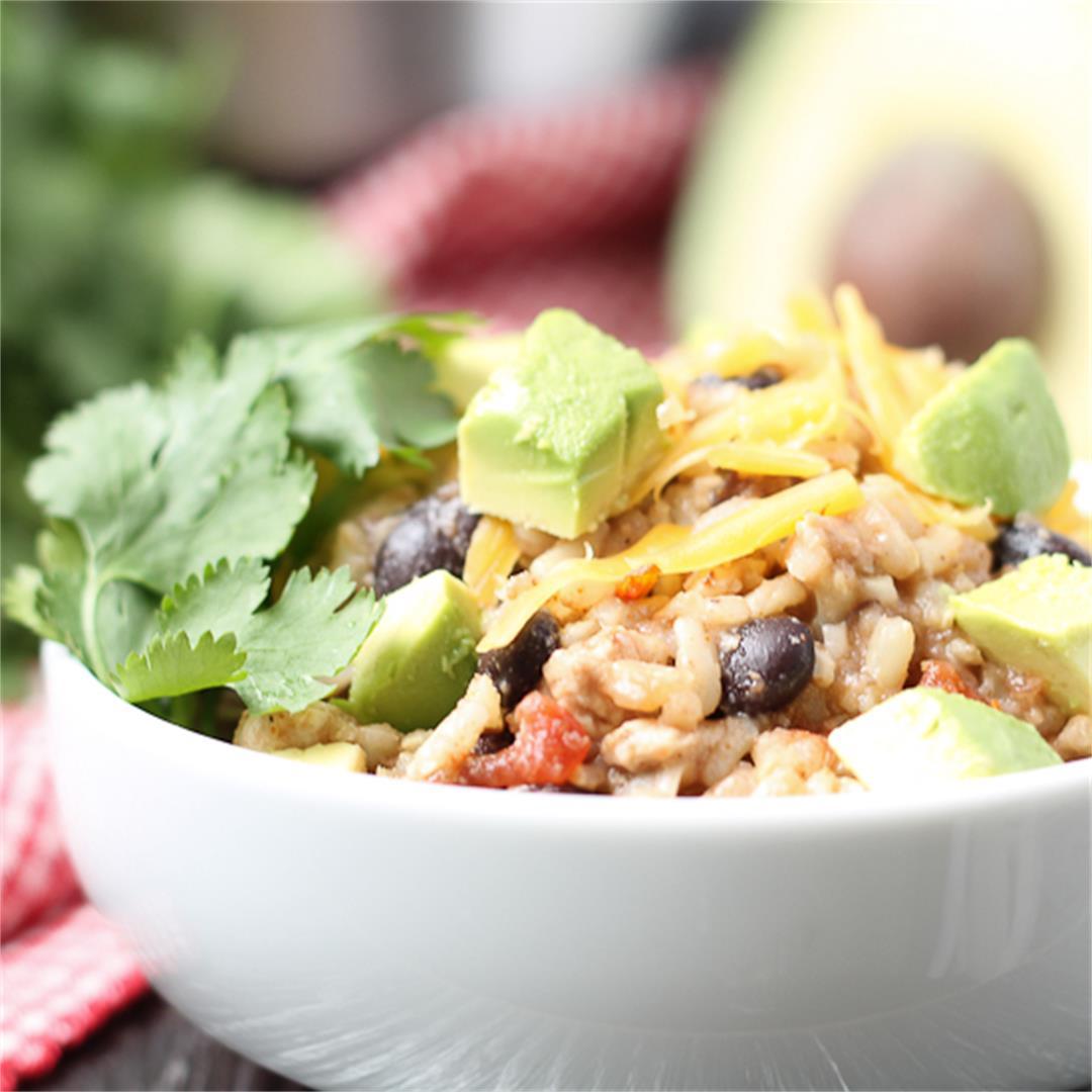 Instant Pot Salsa Chicken Brown Rice Bowls