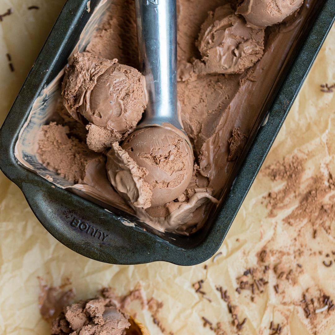 French-Style Double Chocolate Ice Cream