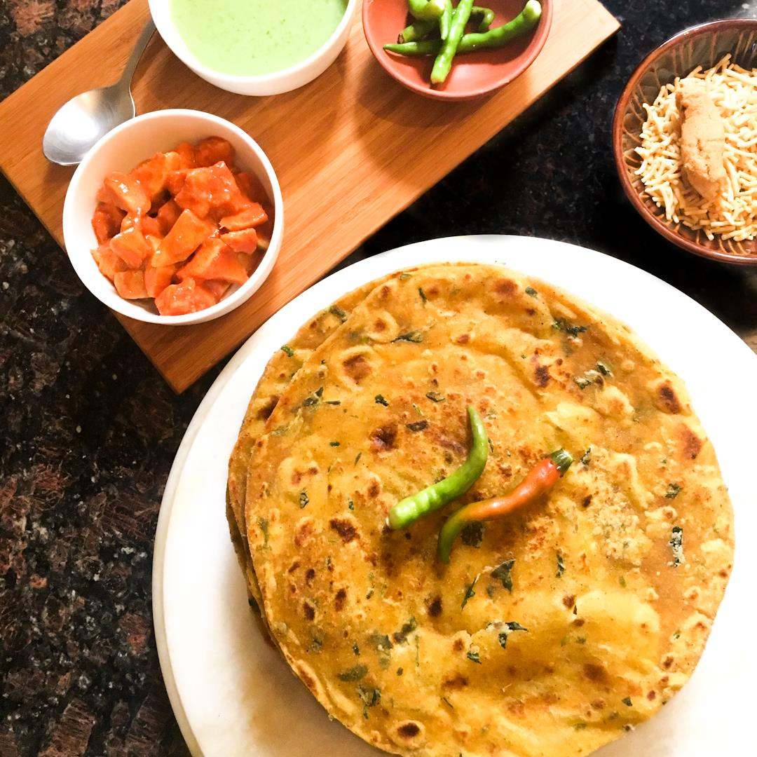 Methi thepla is a quintessential Indian travel snack.