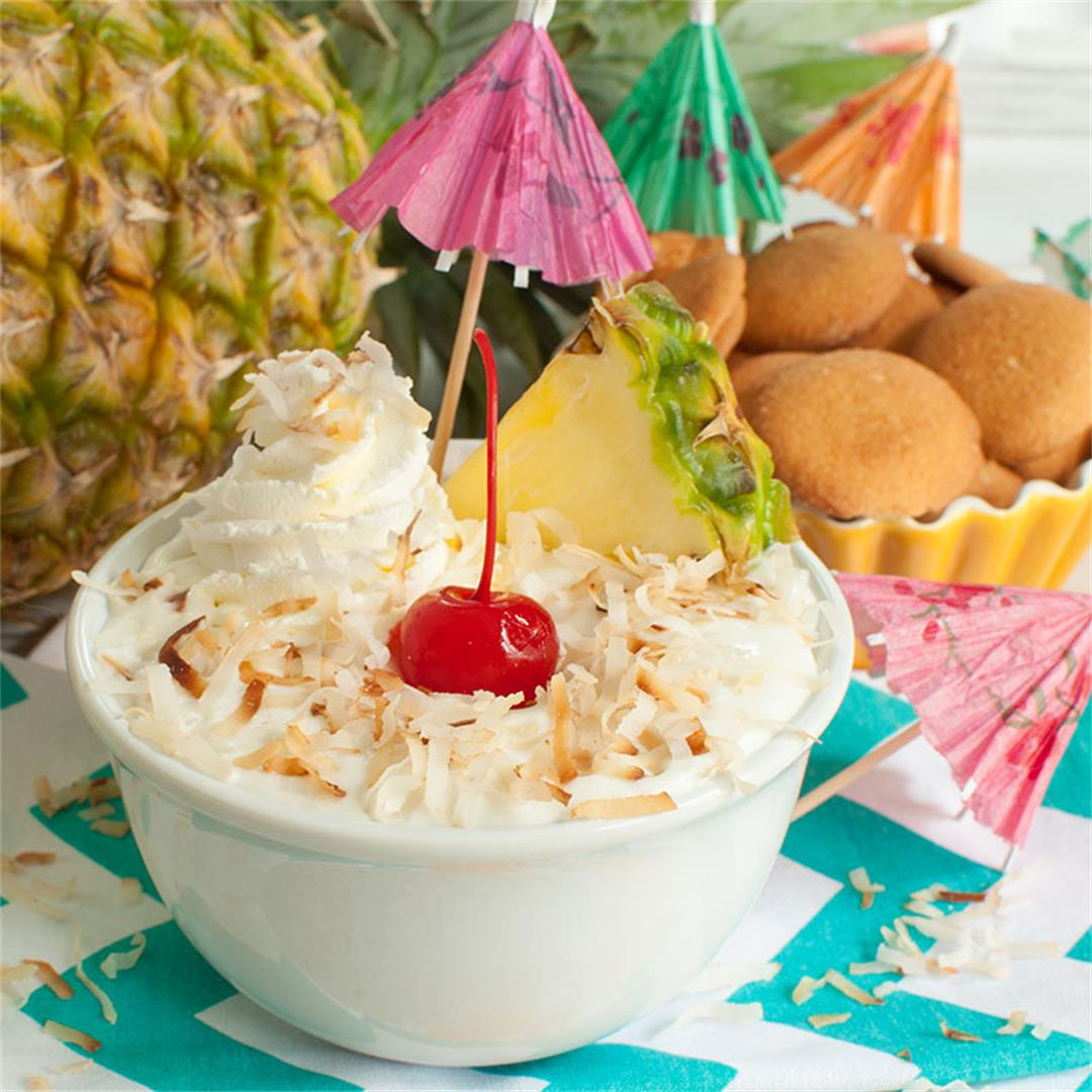 Pina Colada Dip- Easy pineapple and coconut dessert dip