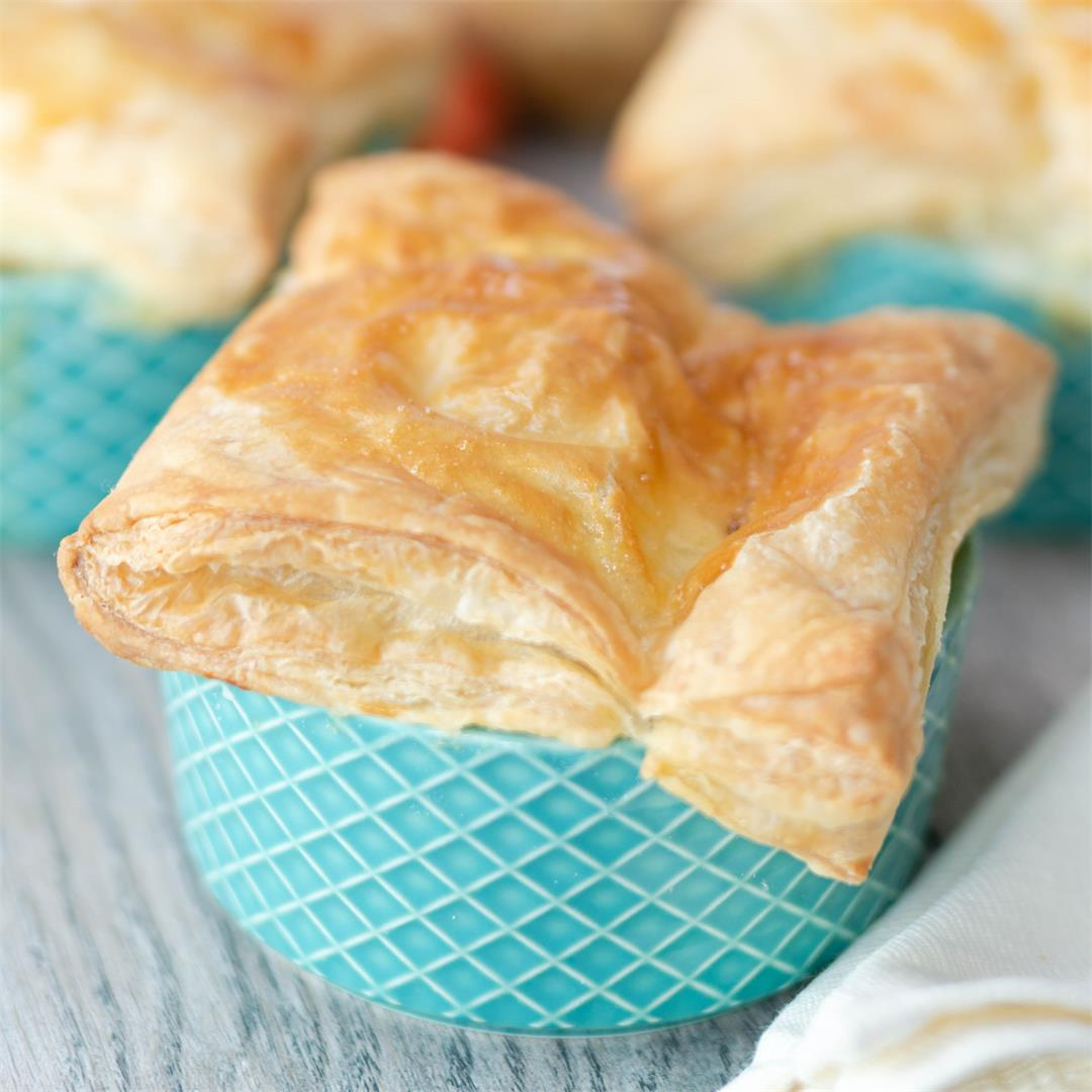 Mini Chicken Pot Pies with Puff Pastry
