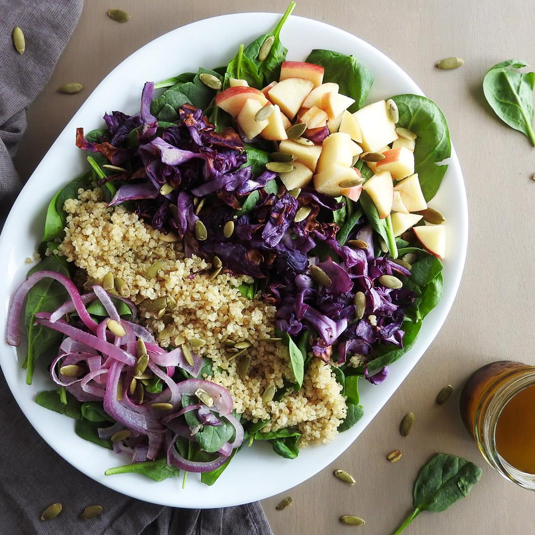 Roasted Red Cabbage & Quinoa Salad