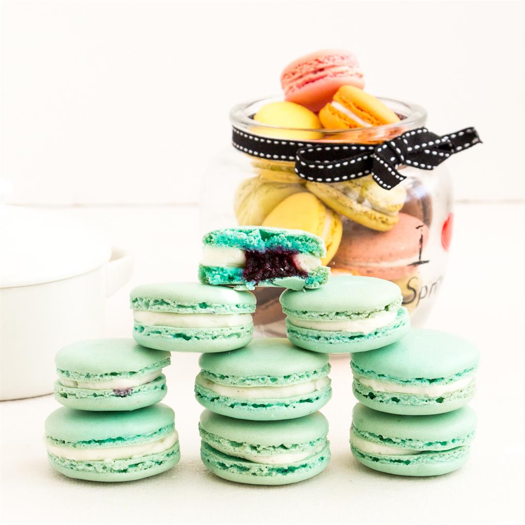 Blueberry Macarons NO-fail Recipe
