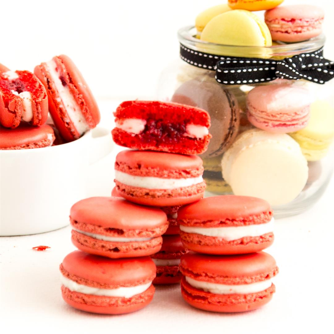 Raspberry Macarons - NO-Fail Video Recipe