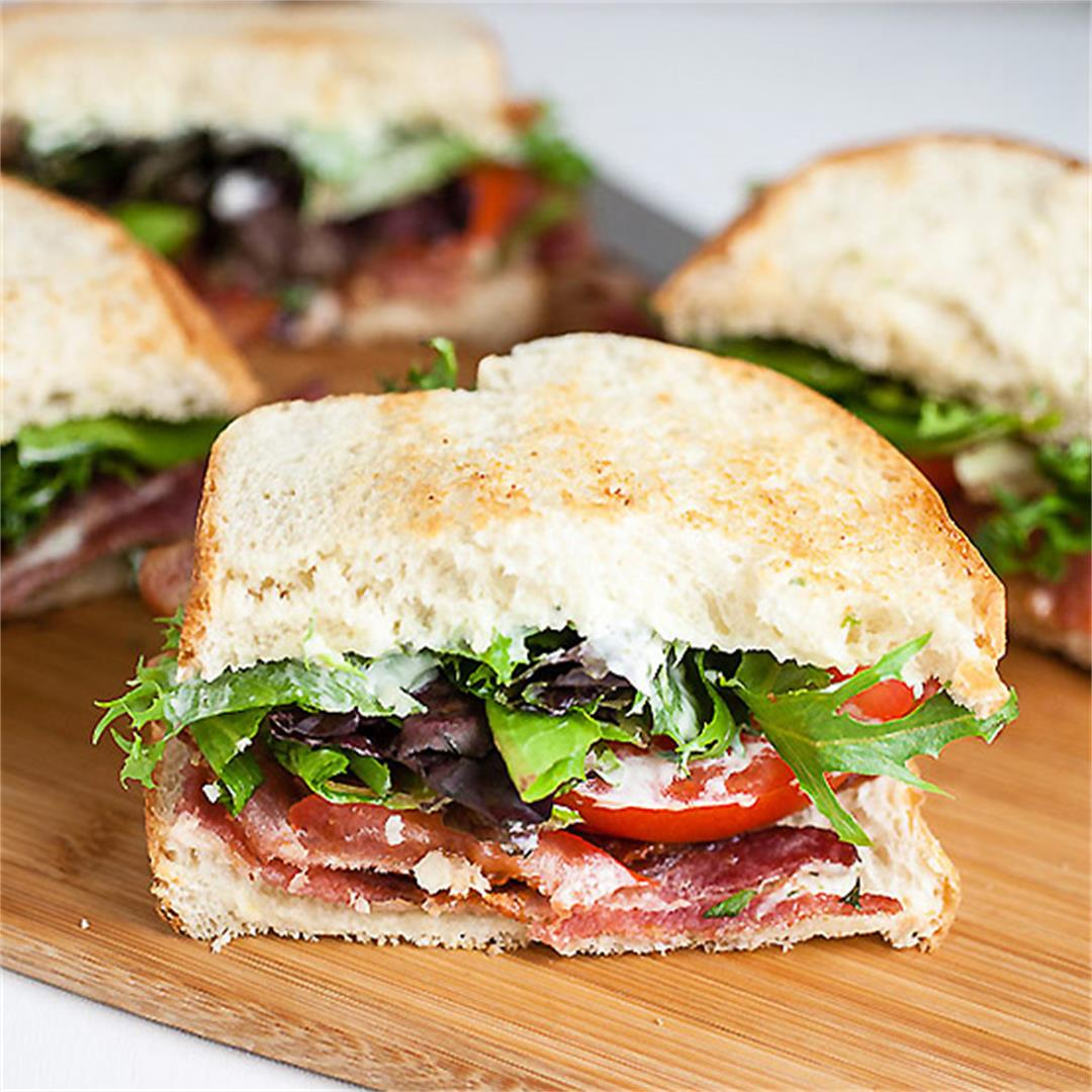 BLT with Lemon Basil Mayo