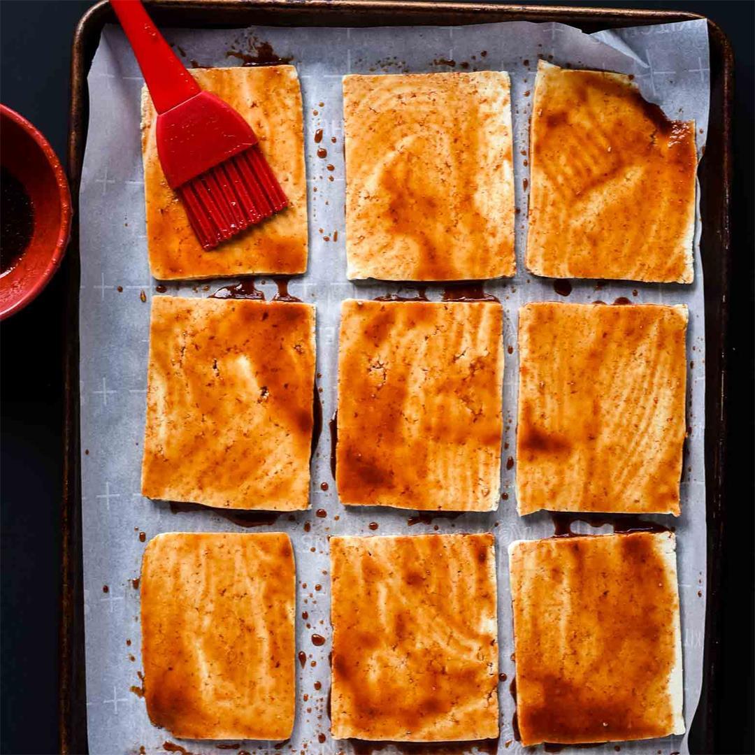 Sriracha Soy Baked Tofu