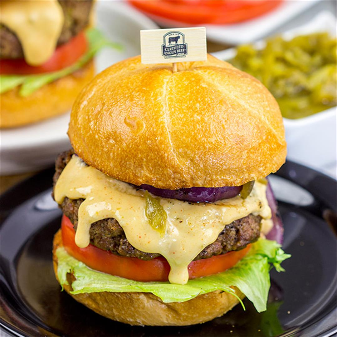 Hatch Green Chile Burgers