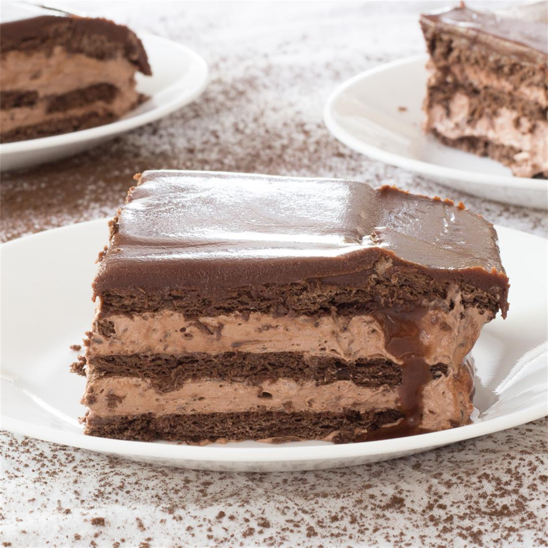No-Bake Triple Chocolate Eclair Cake