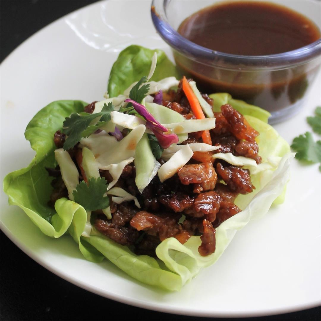 Thai Pork Lettuce Wraps - Easy and Tasty