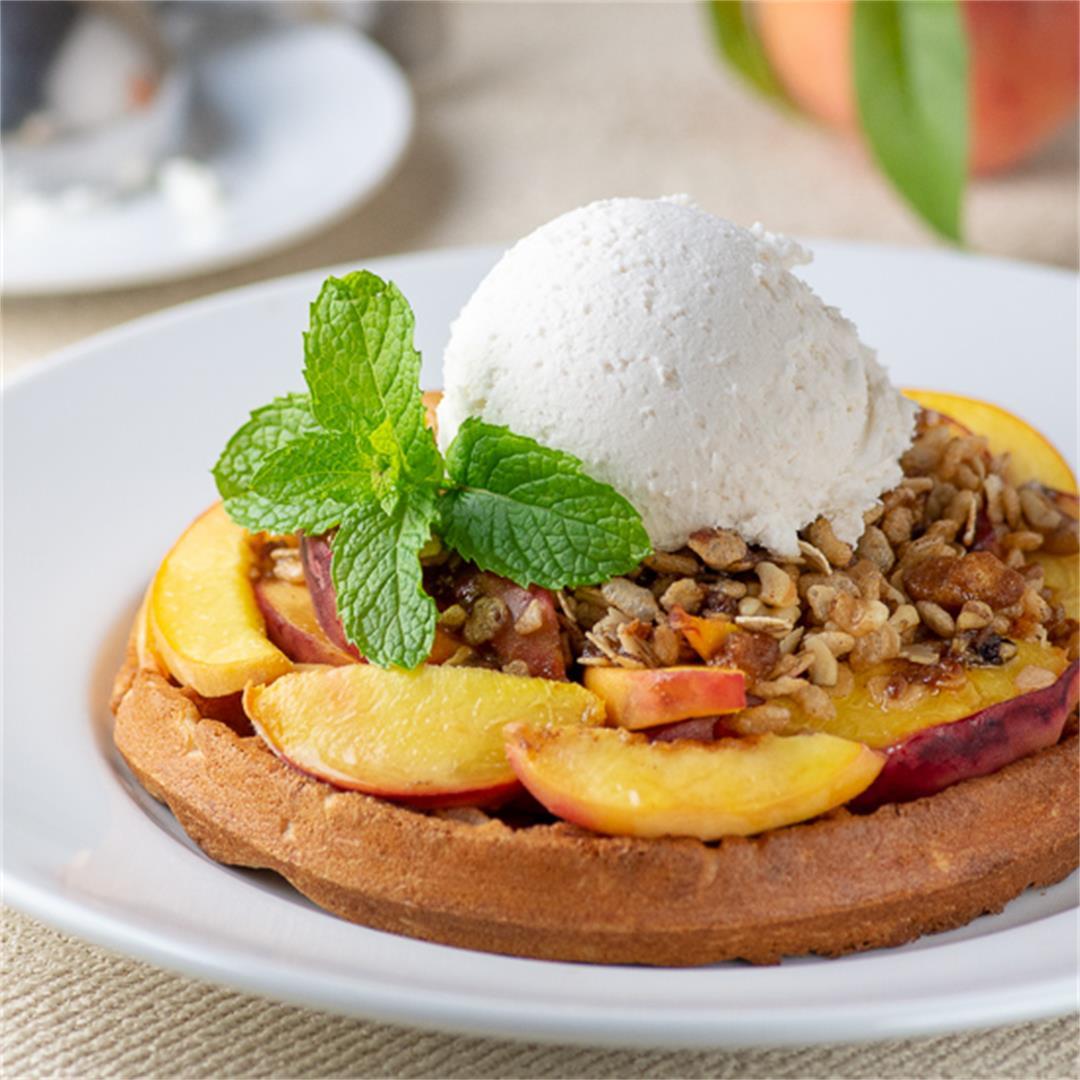 Peach Waffle Crisp