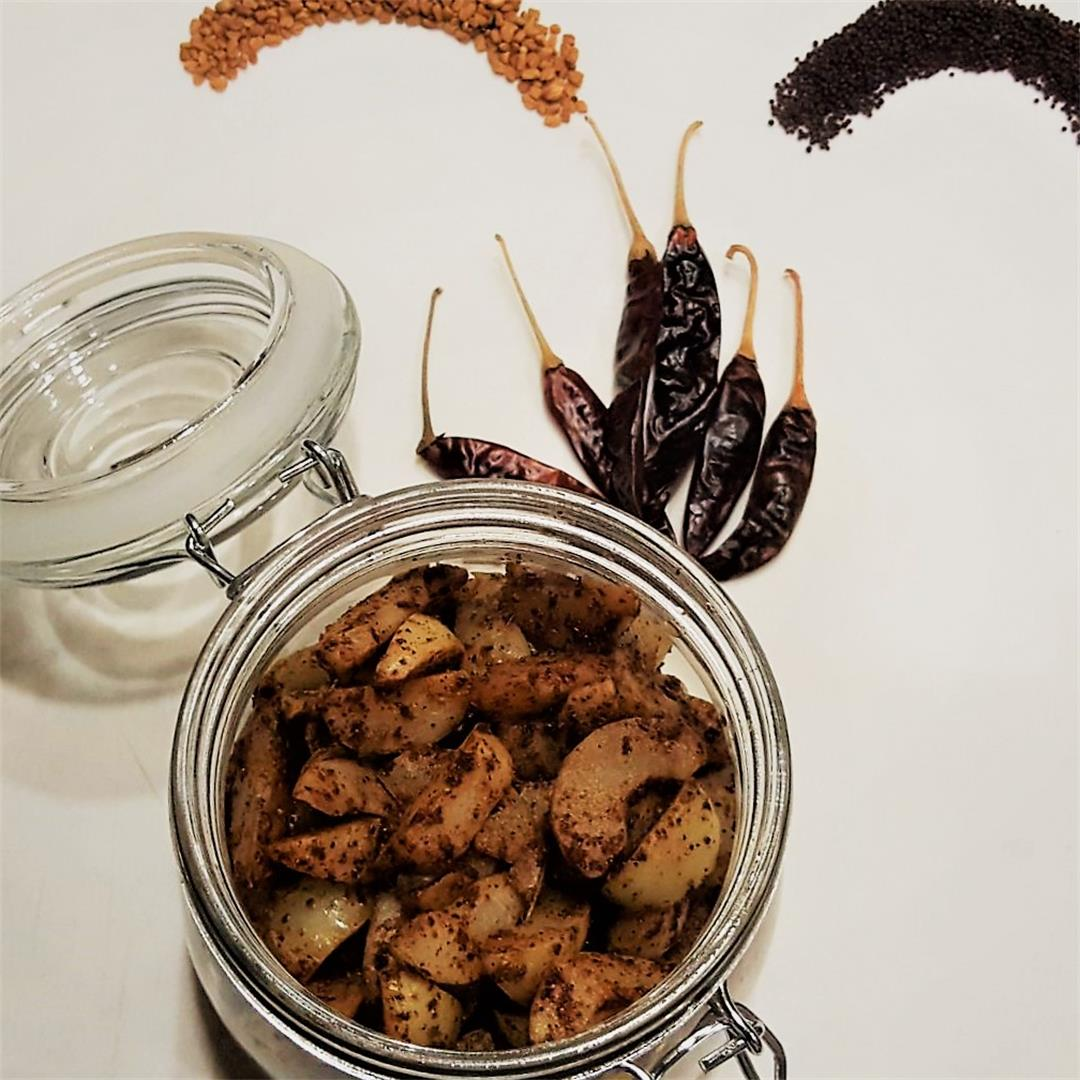 Gooseberry pickle with olive oil