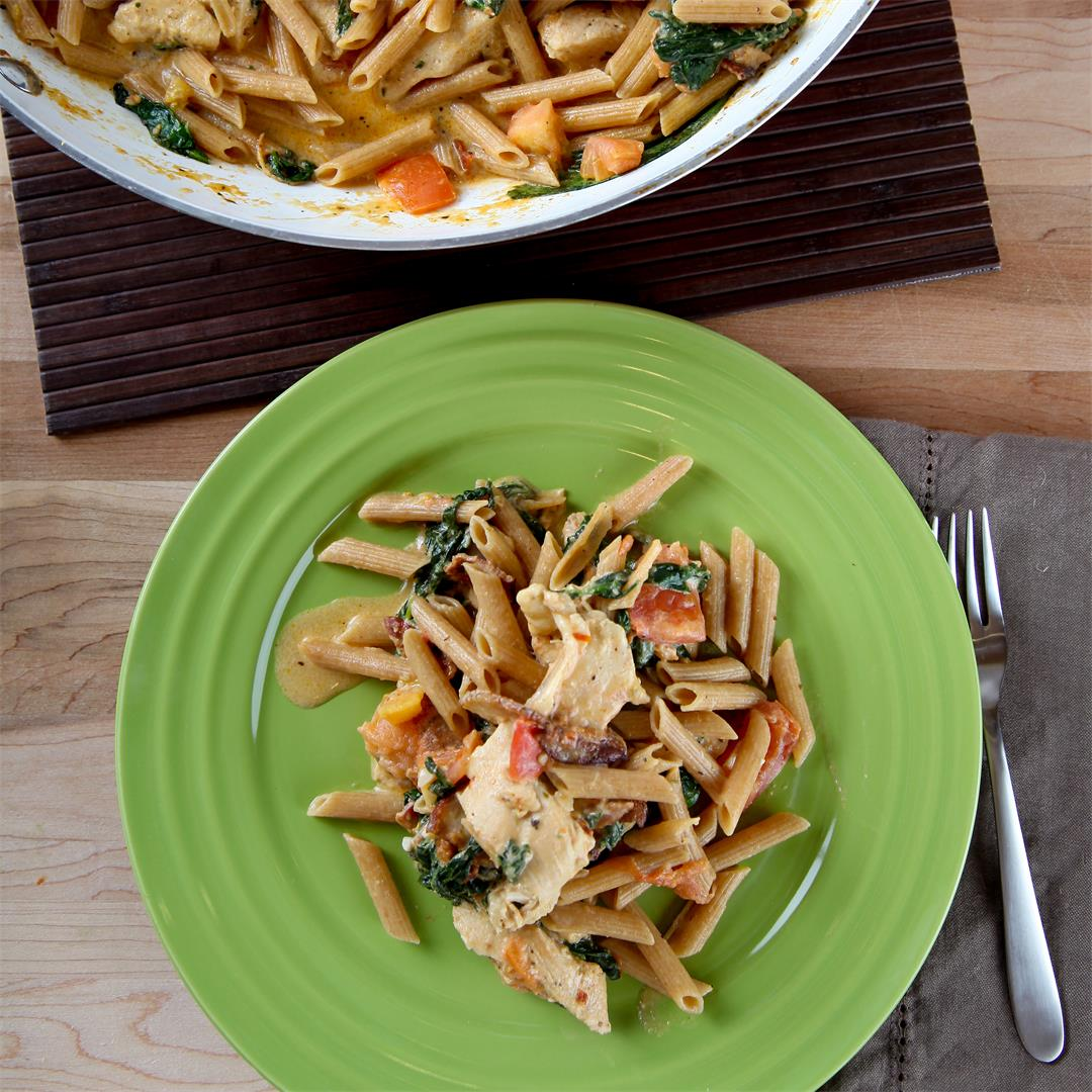 Chicken and Pasta with a Light Cream Sauce