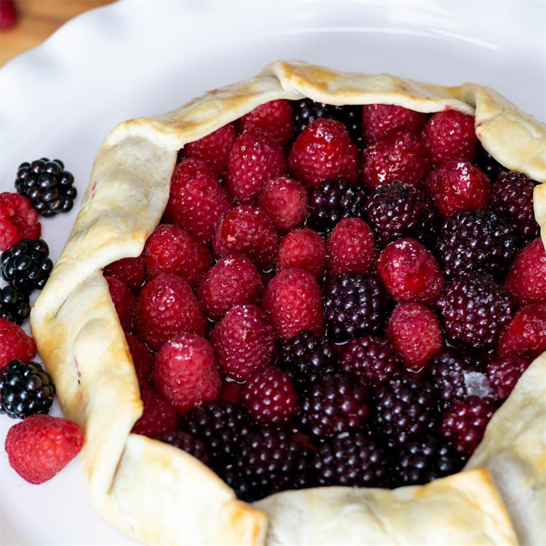 Easy Rustic Mixed Berry Tart
