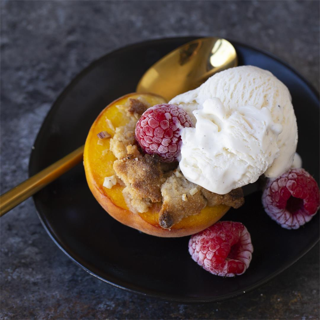 Shortcut Peach Crisp - grain free, paleo, vegan