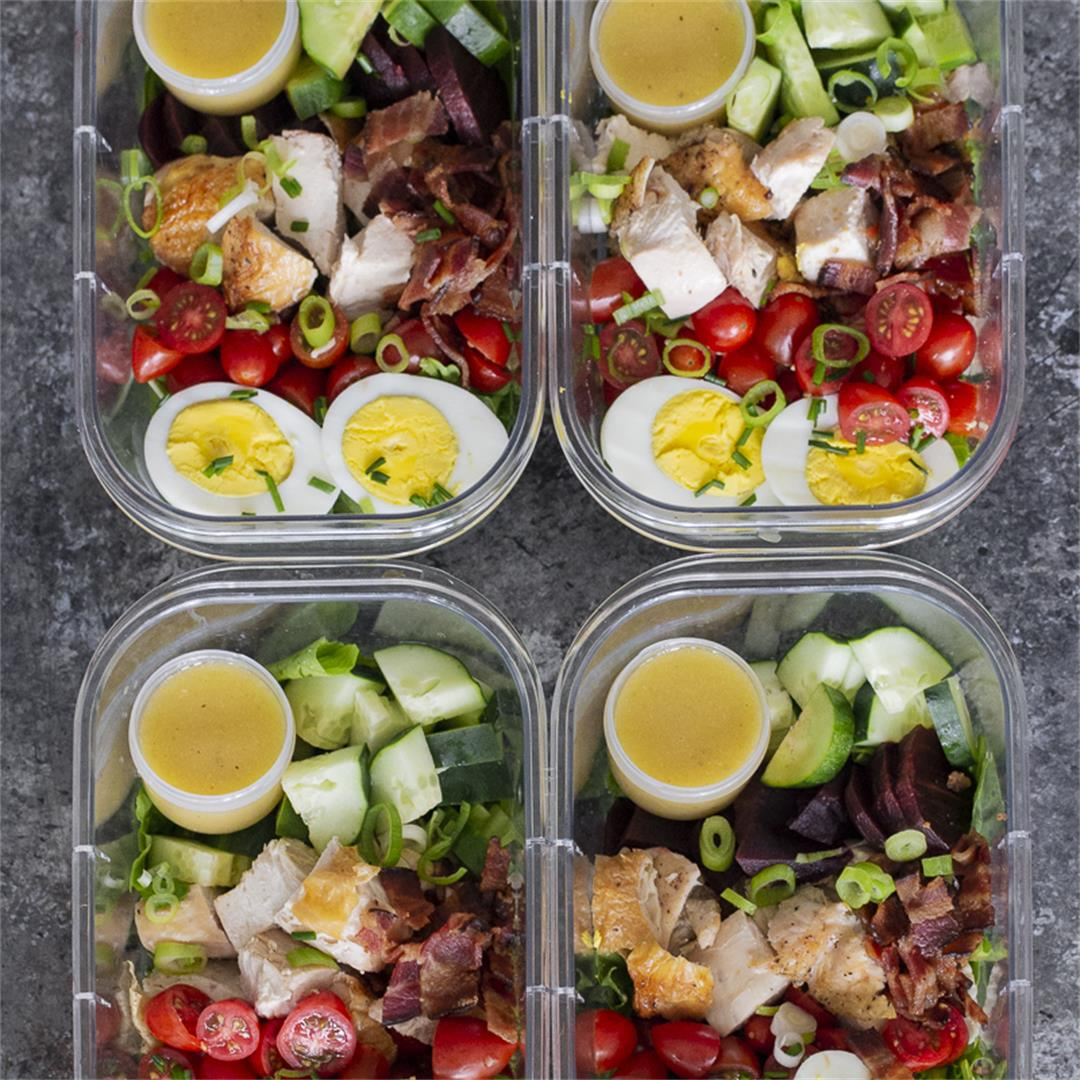 Cobb Salad Meal Prep - paleo, whole 30