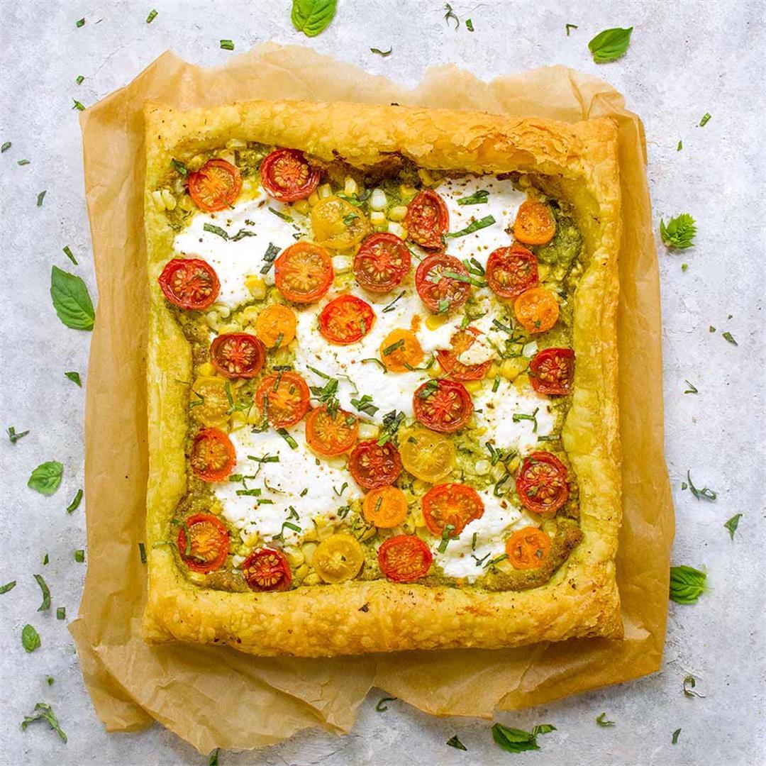 Puff Pastry Tomato Tart