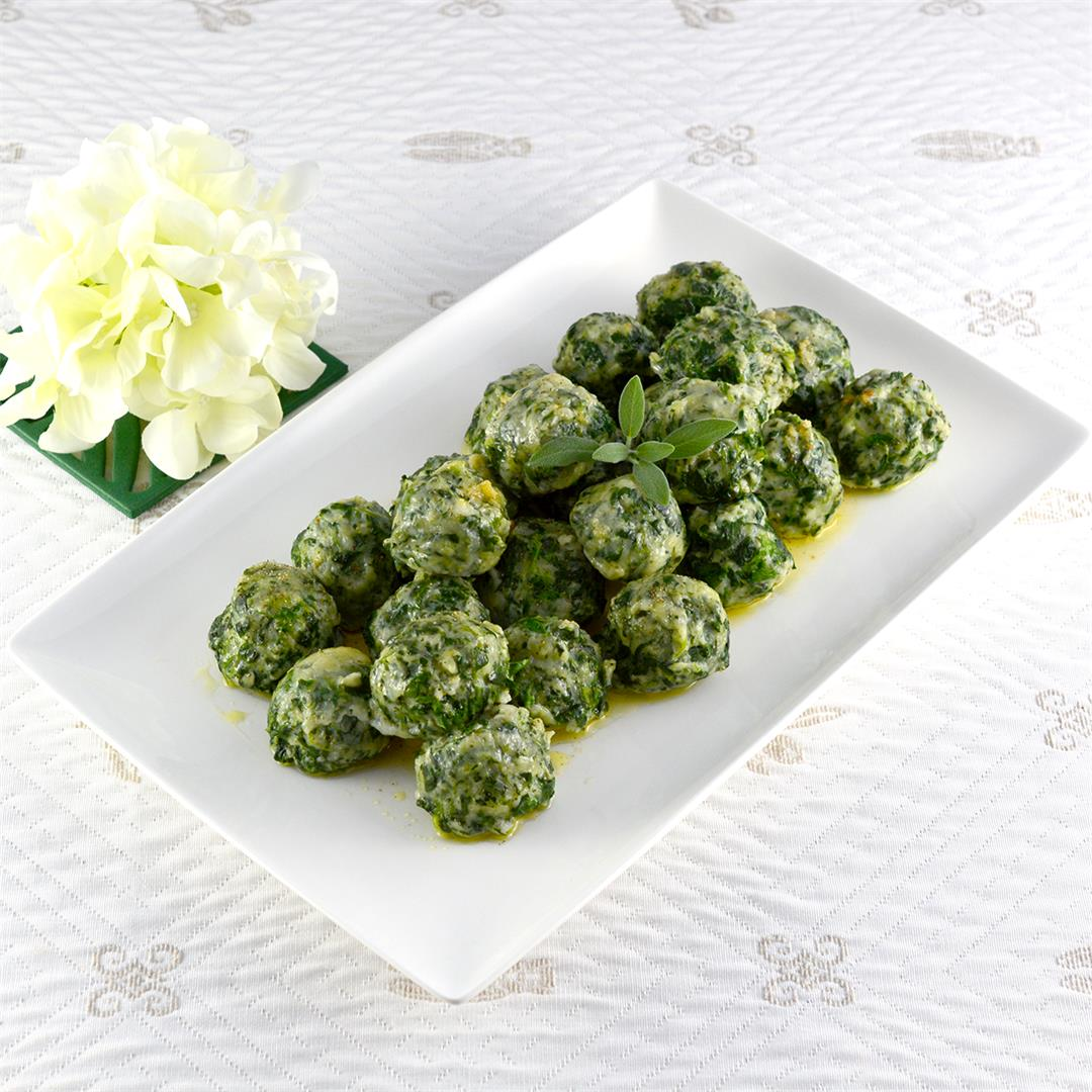 Spinach Gnudi with Brown Butter