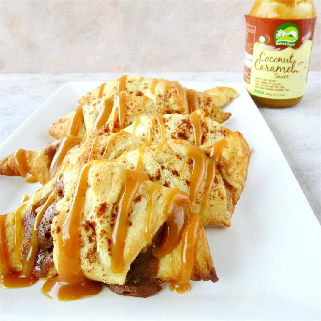 Vegan Caramel Apple Crescent Rolls