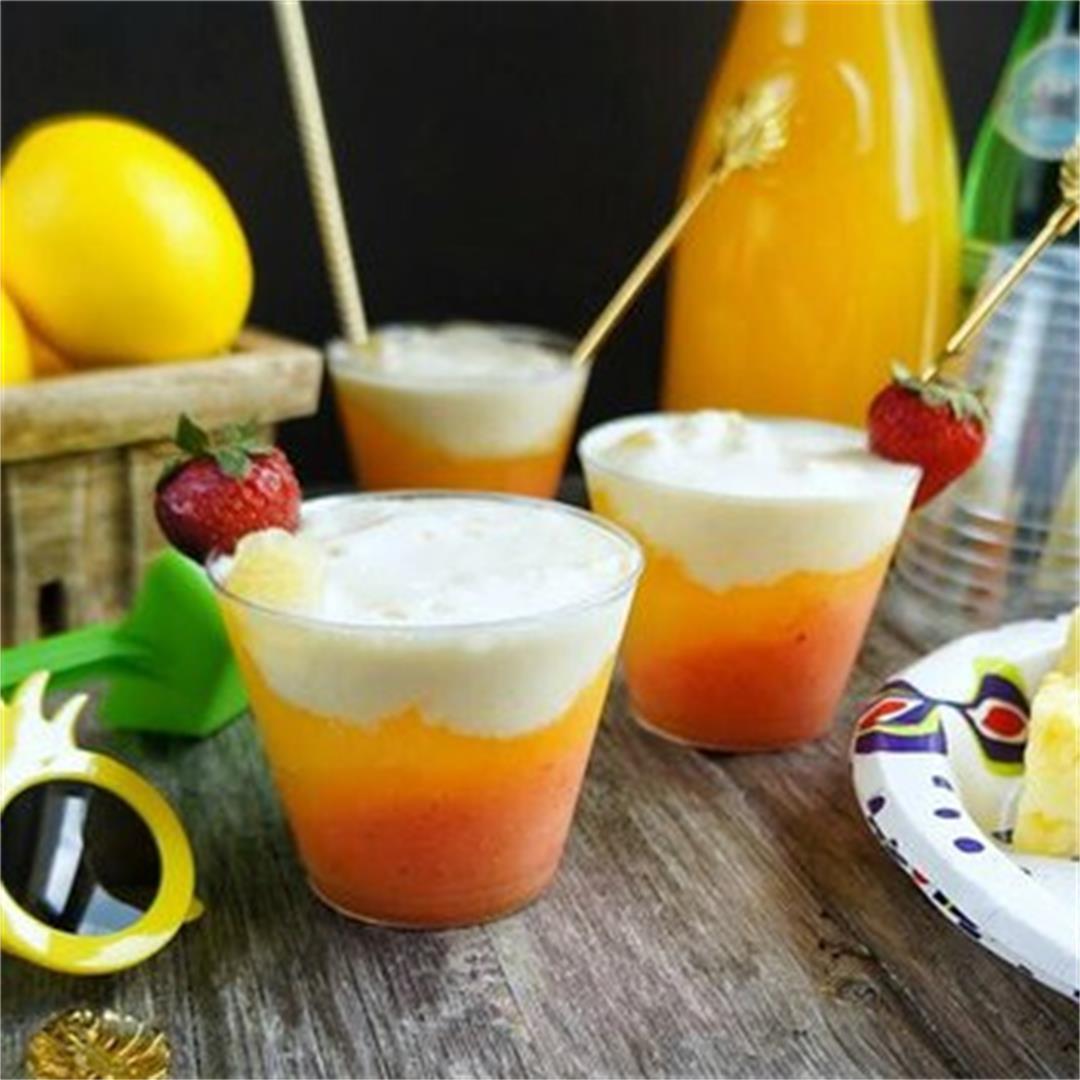 Layered Mango Coconut Mocktails