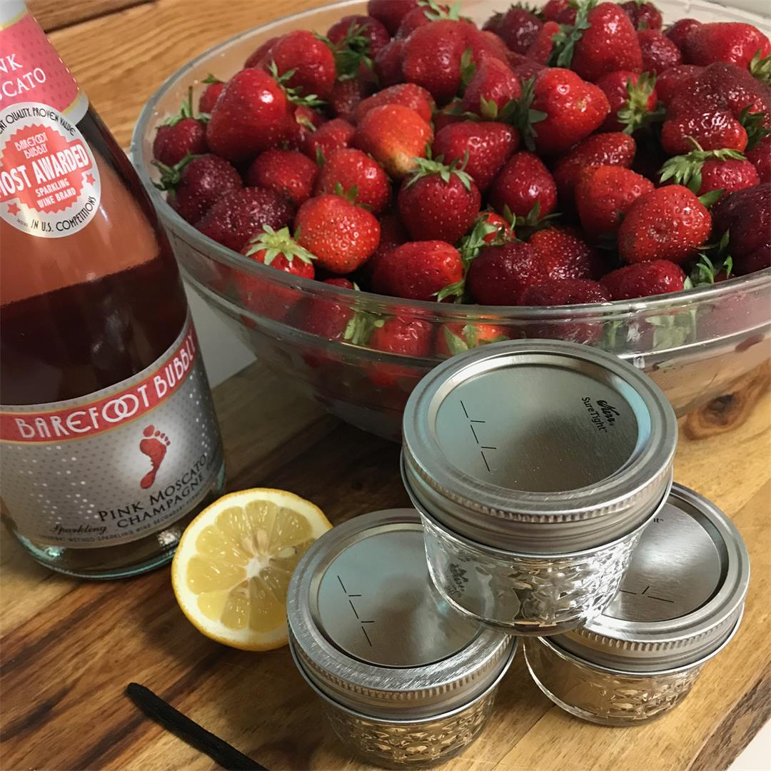 Strawberry Champagne Jam