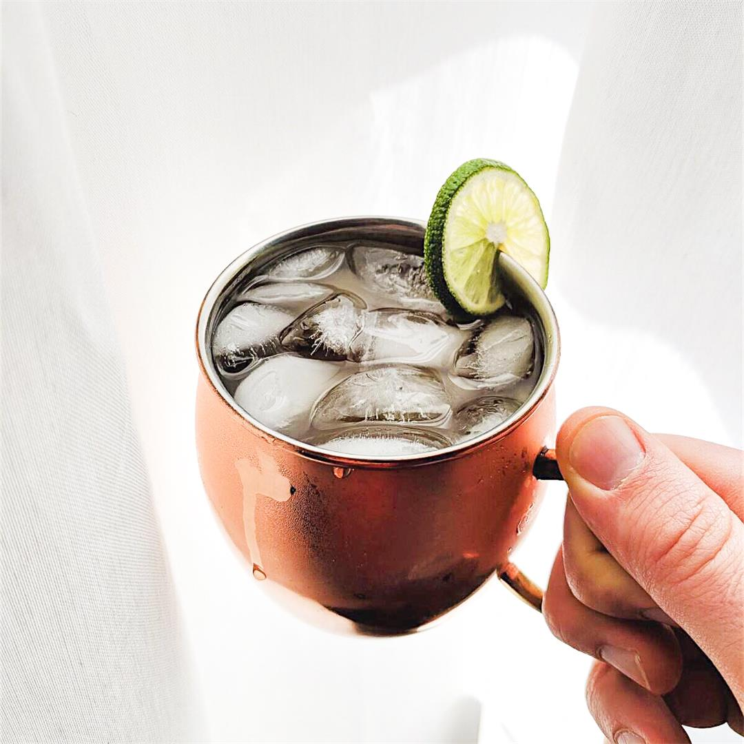 Ginger Kombucha Moscow Mules - no refined sugar + delicious!