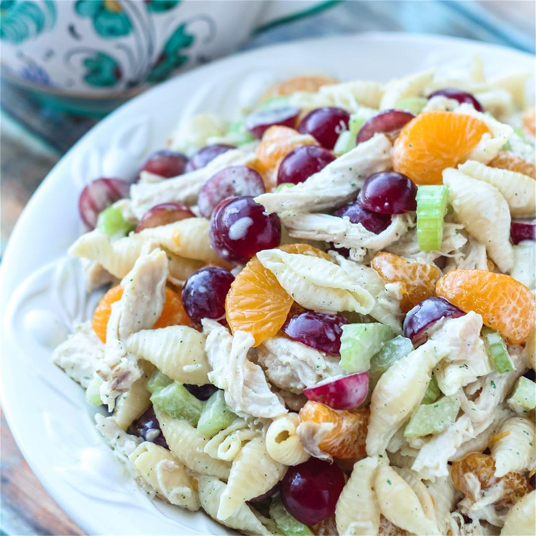 Fruit & Chicken Pasta Salad with a yummy Ranch Dressing