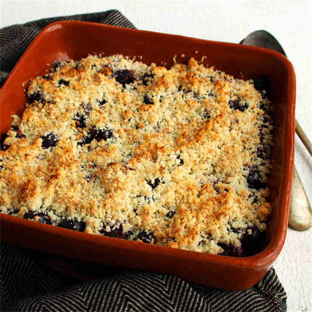 Keto Blueberry Coconut Crumble Recipe