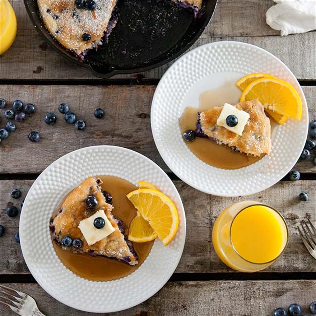 Shortcut Baked Blueberry Pancake