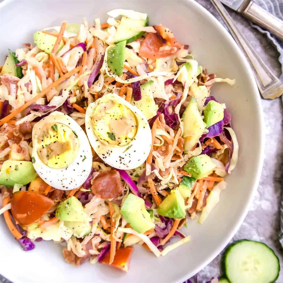 Sautéed Cabbage Cobb Salad (Paleo, Whole30)