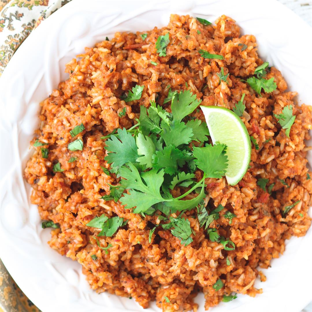 Healthy Mexican Brown Rice
