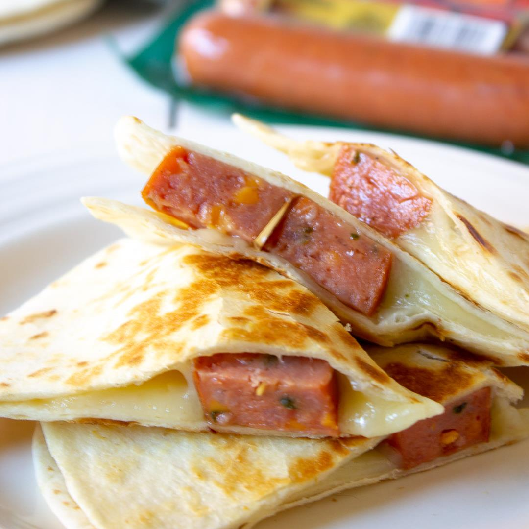 Simple and Savory Smoked Sausage Quesadillas