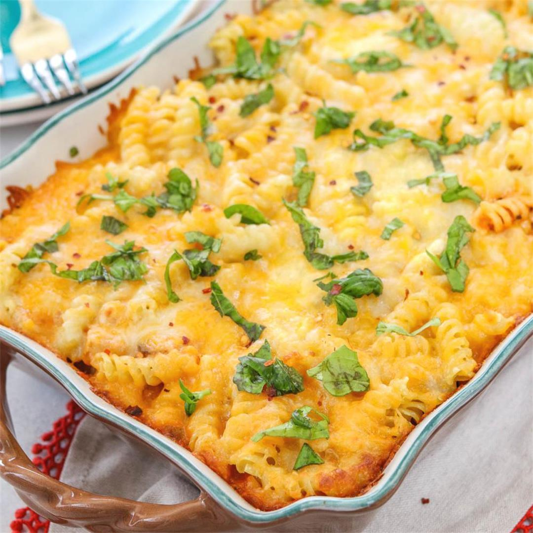 Baked Ziti With Summer Vegetables