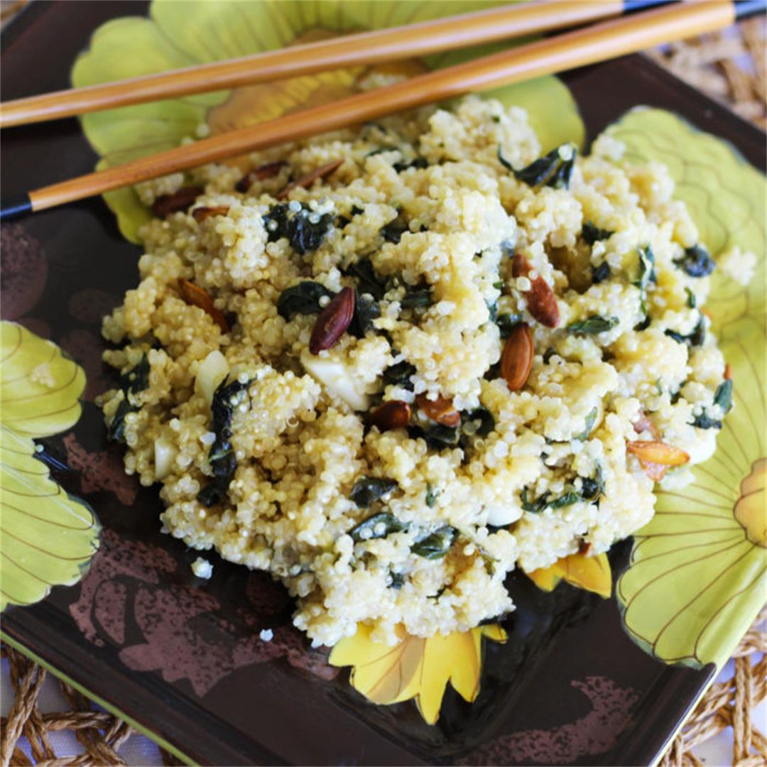 Quinoa Basil Stirfry With Mango