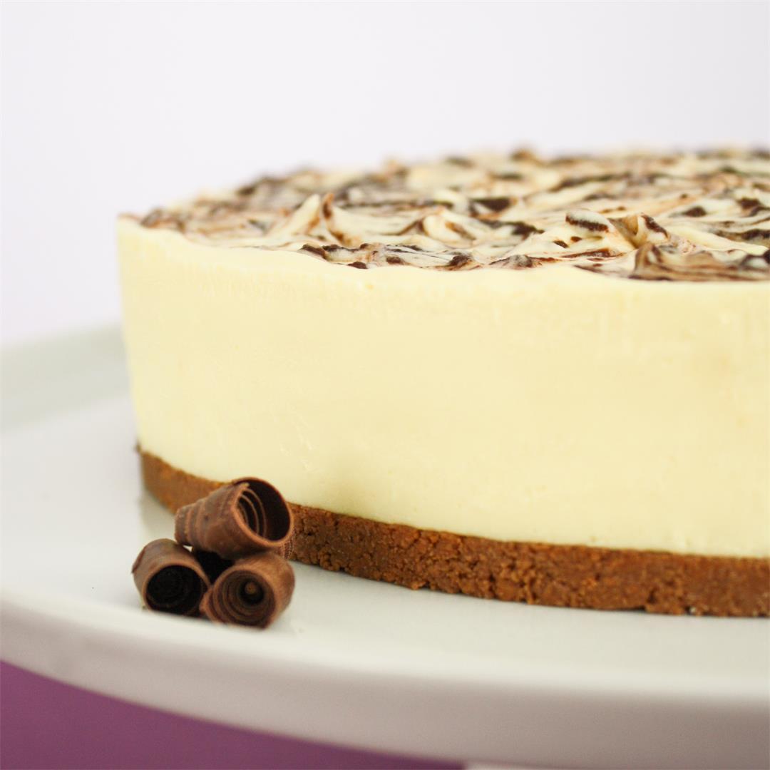 White chocolate cheesecake - so decadent!