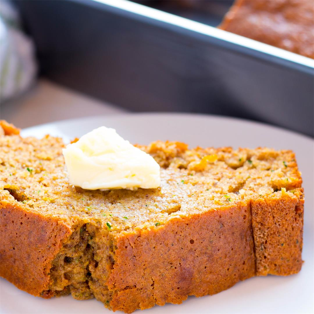 Best Moist Orange Zucchini Bread
