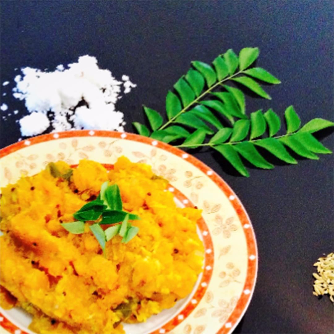 Sauteed pumpkin with coconut- easy recipe for a flat belly