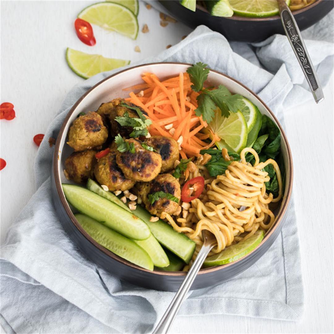 Pork Satay Noodle Bowls