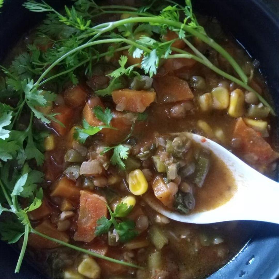 Mexican Lentils Soup