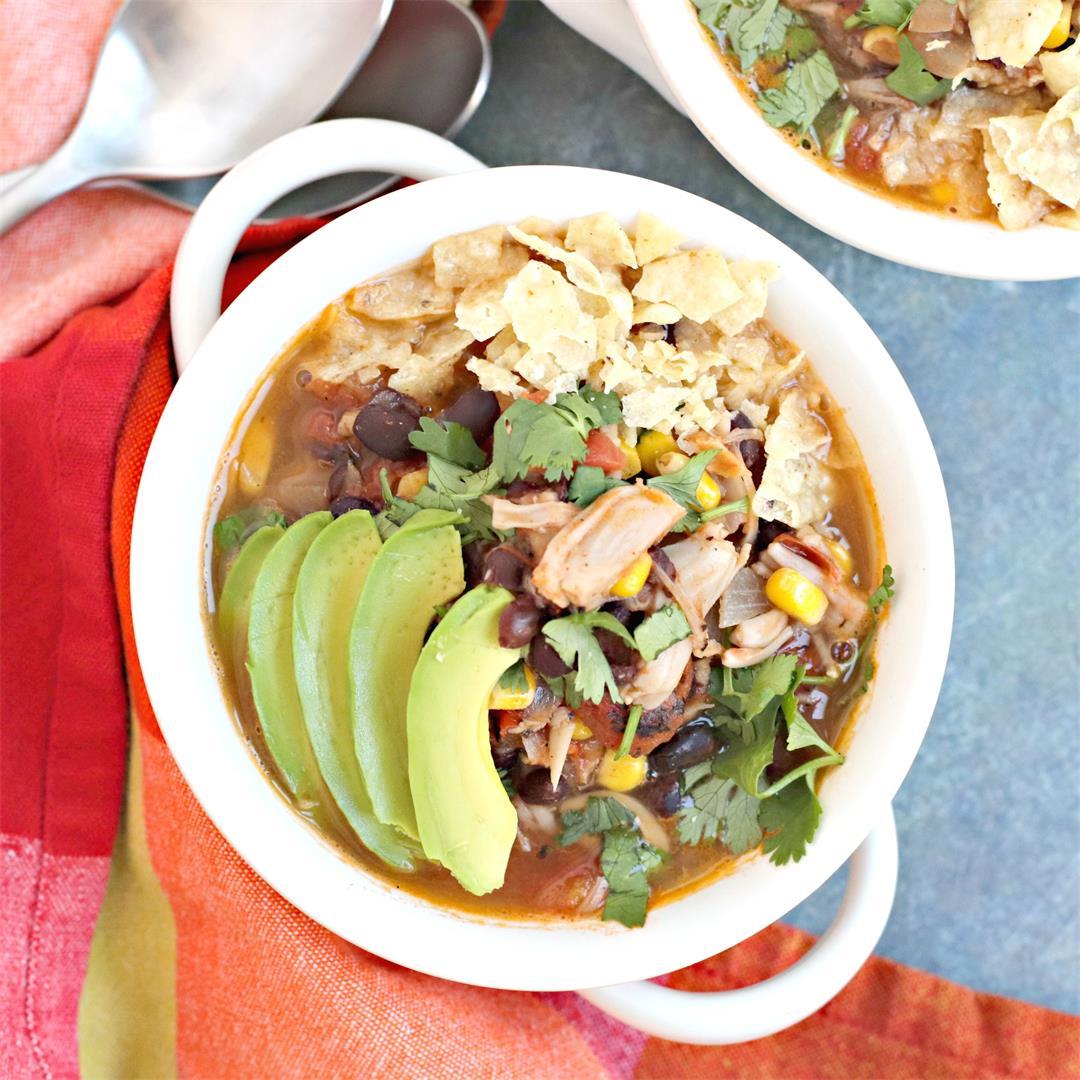 Vegan Taco Soup with Jackfruit