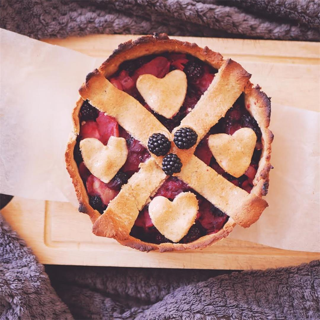 Apple & Blackberry Pie - Free From Gluten, Dairy & Added Sugar