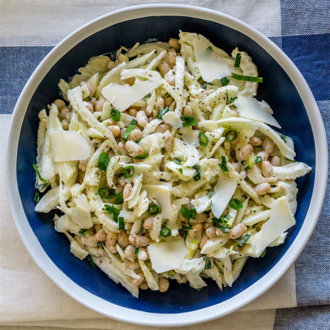 Fennel and White Bean Salad with Romano Cheese