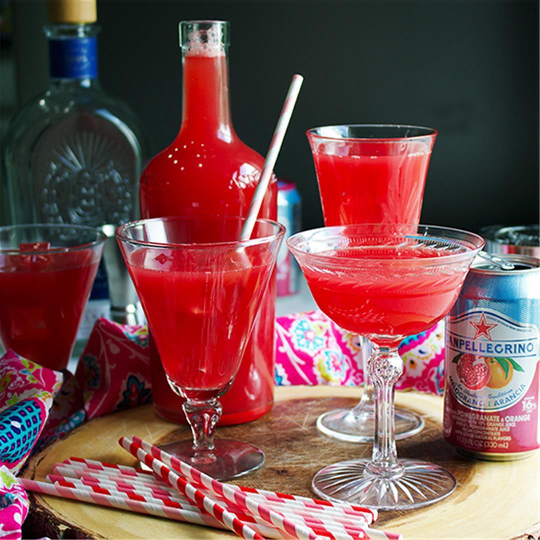 Watermelon Tequila Spritzers