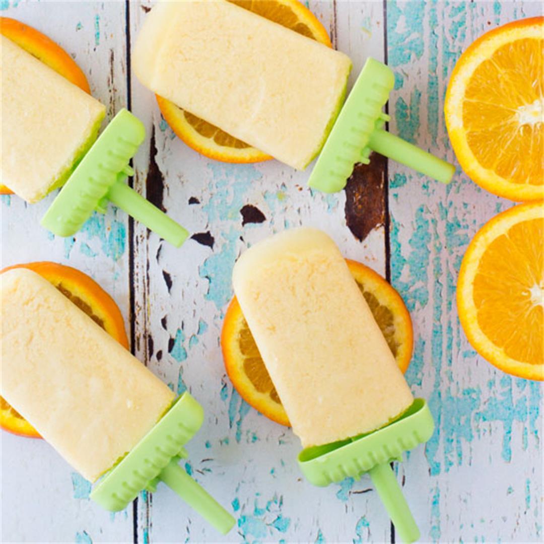 Orange Creamsicle Popsicle