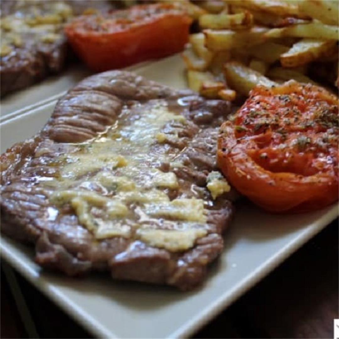 Air Fryer Steak & French Fries (Steak Frites)