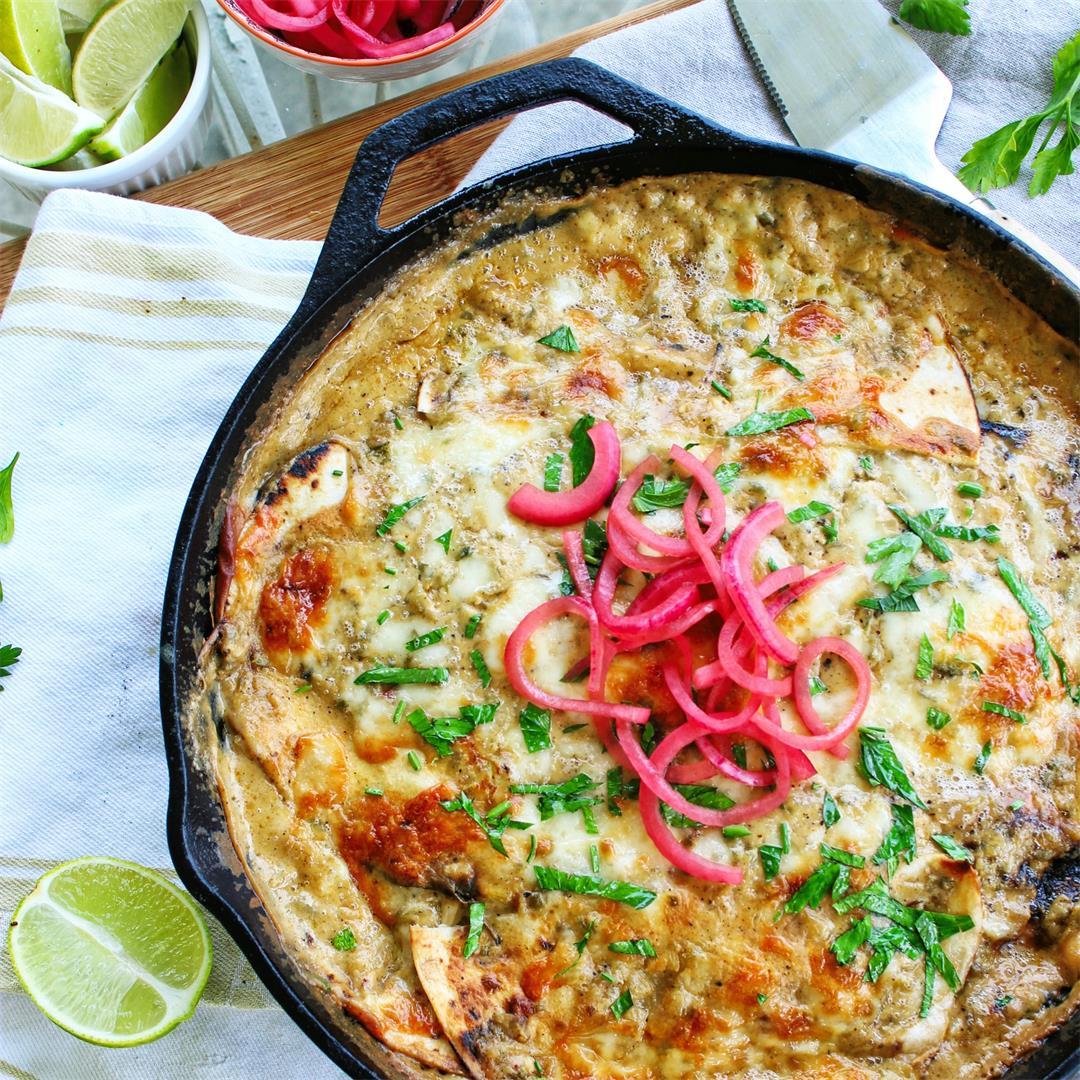One Pan Skillet Enchiladas
